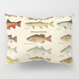 Illustrated Eastern Game Fish Identification Chart Pillow Sham
