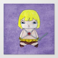 he man Canvas Prints featuring A Boy - He-Man by Christophe Chiozzi
