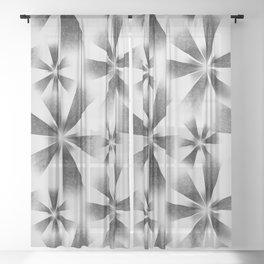 Fragmented White Burst Sheer Curtain