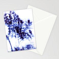 Impressionist leaves ~ indigo series 1 Stationery Cards
