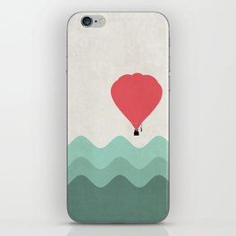 The Hot Air Balloon {The Boring Afternoon Design Series} iPhone Skin