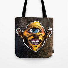 Happy Cycloptic Dog Eagle with a Stache (scratch back) Tote Bag