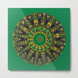 Colorful Mandala RQ Metal Print