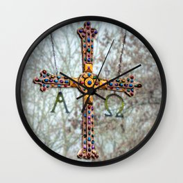 Asturias Christ's cross Wall Clock