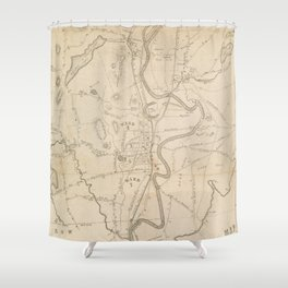 Vintage Map of Concord NH (1855) Shower Curtain