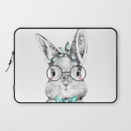 Bunny with Scarf and Bowtie Laptop Sleeve