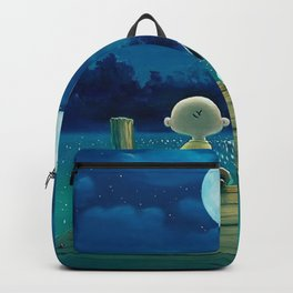 snoopy night moon Backpack