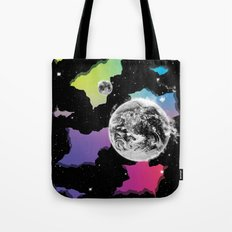 The Neon Spectrum and Cosmic Matter Tote Bag