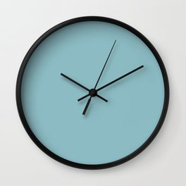 PPG Glidden Kingston Aqua (Pastel Blue Green) PPG1150-4 Solid Color Wall Clock