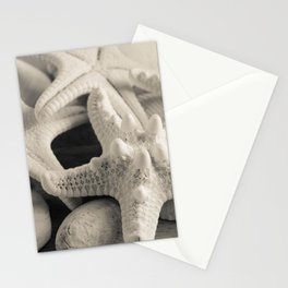 White Starfish Black and White Stationery Cards
