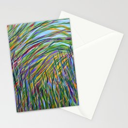 Tropical Green Abstract, Seagrass Color Study, Contemporary Colorful Home Decor Stationery Cards