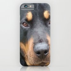 Beautiful Female Rottweiler Portrait Vector Slim Case iPhone 6s