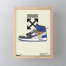 Jordan 1 Poster Framed Mini Art Print