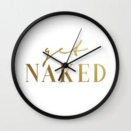 Get Naked Gold Wall Clock