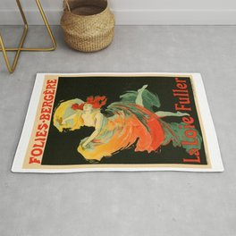 Belle Epoque vintage poster, Folies Bergere, La Loie Fuller Rug