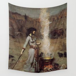 The Magic Circle, John William Waterhouse Wall Tapestry