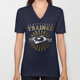 Classically Trained Vinyl Player Unisex V-Neck