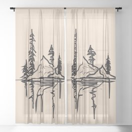 Abstract Landscpe Sheer Curtain
