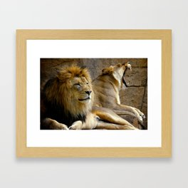 Zenda and Isis Framed Art Print