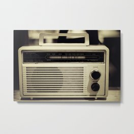 "on the radio... ""ANALOG zine""  Metal Print"