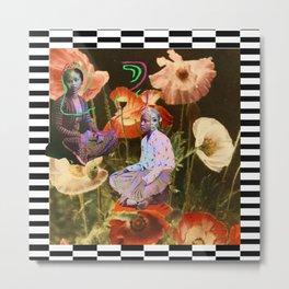 JAVA flowers shadow Metal Print