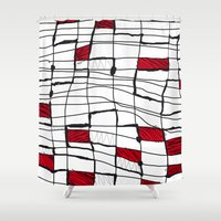 text Shower Curtains featuring text by Ivano Nazeri
