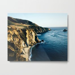 Bixby Canyon Cliffs Metal Print