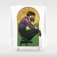 science Shower Curtains featuring Science by Kahahuna
