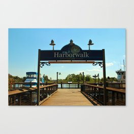 Harborwalk Sign Canvas Print