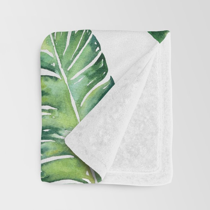Jungle Leaves, Banana, Monstera #society6 Throw Blanket