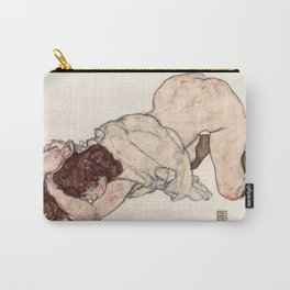 Kneeling Girl, Resting on Both Elbows Carry-All Pouch