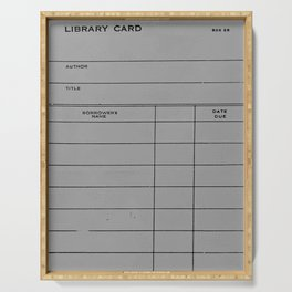 Library Card BSS 28 Gray Serving Tray