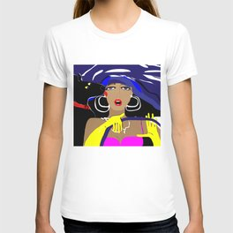 """Driving with my best friend"" Paulette Lust's Original, Contemporary, Whimsical, Colorful Art T-shirt"