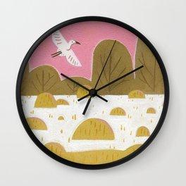 Snowy Egret Wall Clock