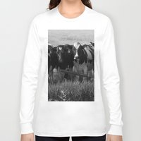 cows Long Sleeve T-shirts featuring Cows by Julie Luke