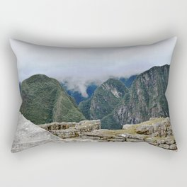 Machu Pichu in the Andes Rectangular Pillow