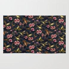 Hummingbird Pattern Rug