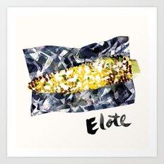 Elote | 100 Days of Cookbook Spots Art Print