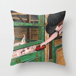 Direct Action Throw Pillow