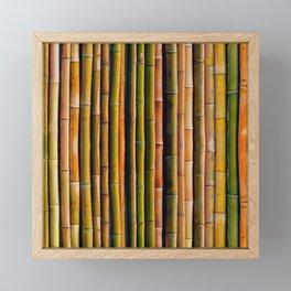 Bamboo fence, texture Framed Mini Art Print