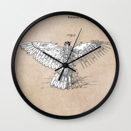 patent art Spalding Flying Machine  1889 Wall Clock