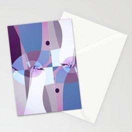 Sacred Geometry Art- Fractal Art- Quistera- Picasso Art- Cubism Art- Purple Art-Cubism Art Stationery Cards