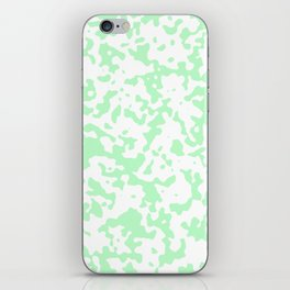Spots - White and Light Green iPhone Skin