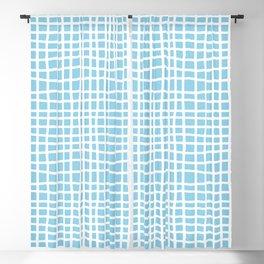blue random cross hatch lines checker pattern Blackout Curtain