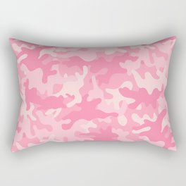 Pink Camouflage Rectangular Pillow