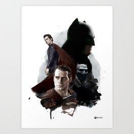 Dark v Super Art Print