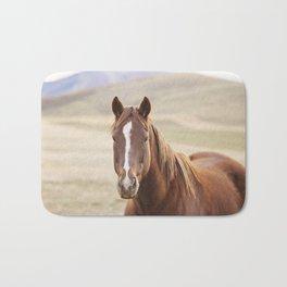 Colorful Western Horse Photo Bath Mat