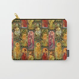 Victorian Art Nouveau Panels Carry-All Pouch