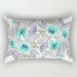 Floral watercolor pattern . Rectangular Pillow