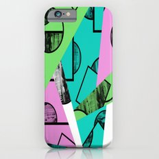 Broken Pieces - Pastel coloured, geometric, textured abstract iPhone 6s Slim Case